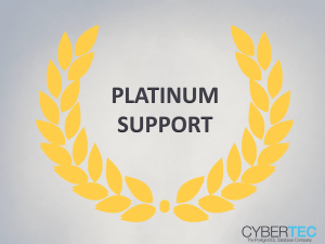 PostgreSQL Support Platinum Support