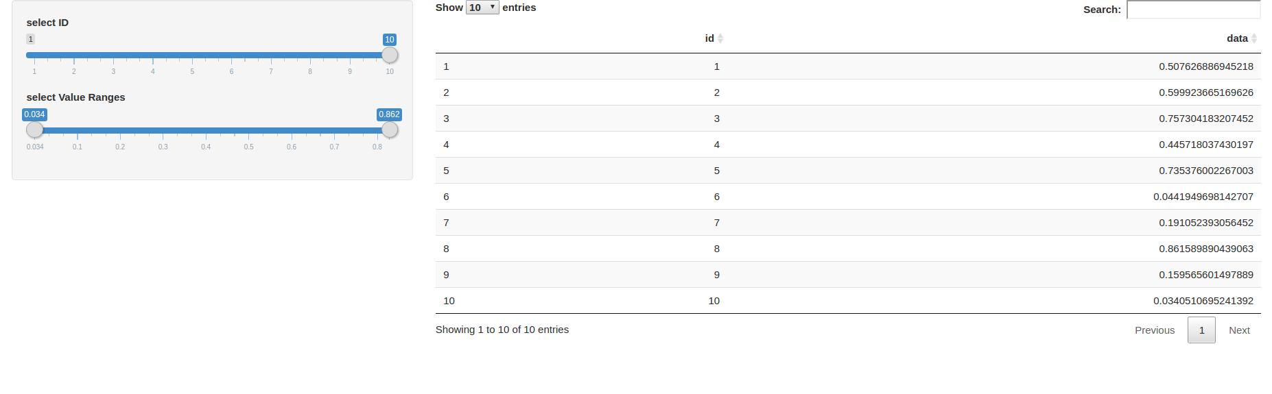Visualizing data in PostgreSQL with R Shiny