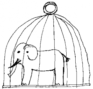 caged elephant