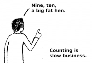 count(*) in a children's rhyme