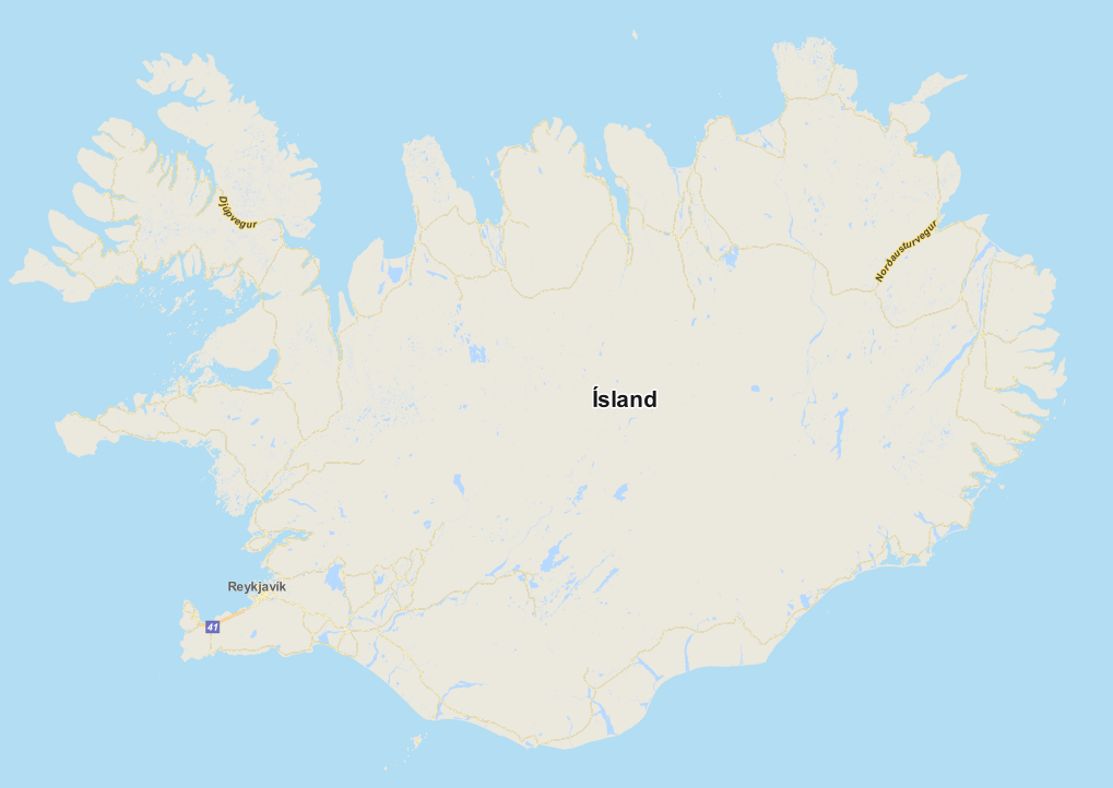 OSM to Postgis - QGIS Map of iceland
