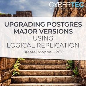 Upgrading Postgres major versions using logical replication