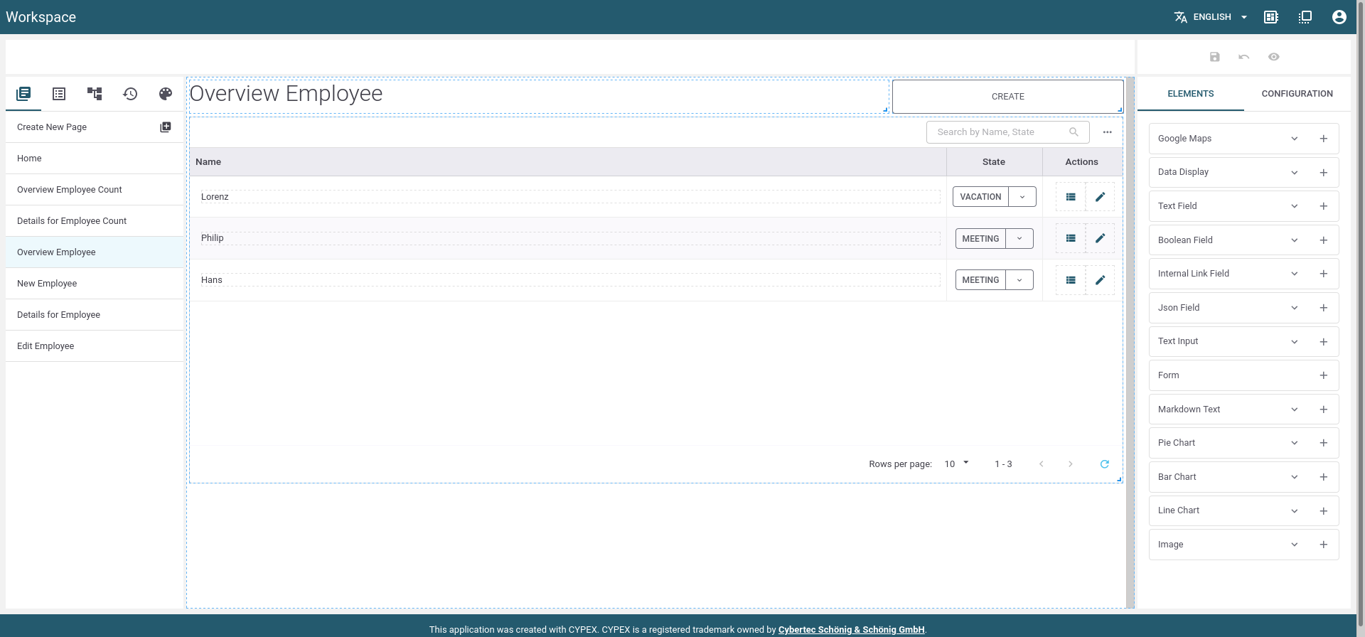 CYPEX: GUI Editor Mode