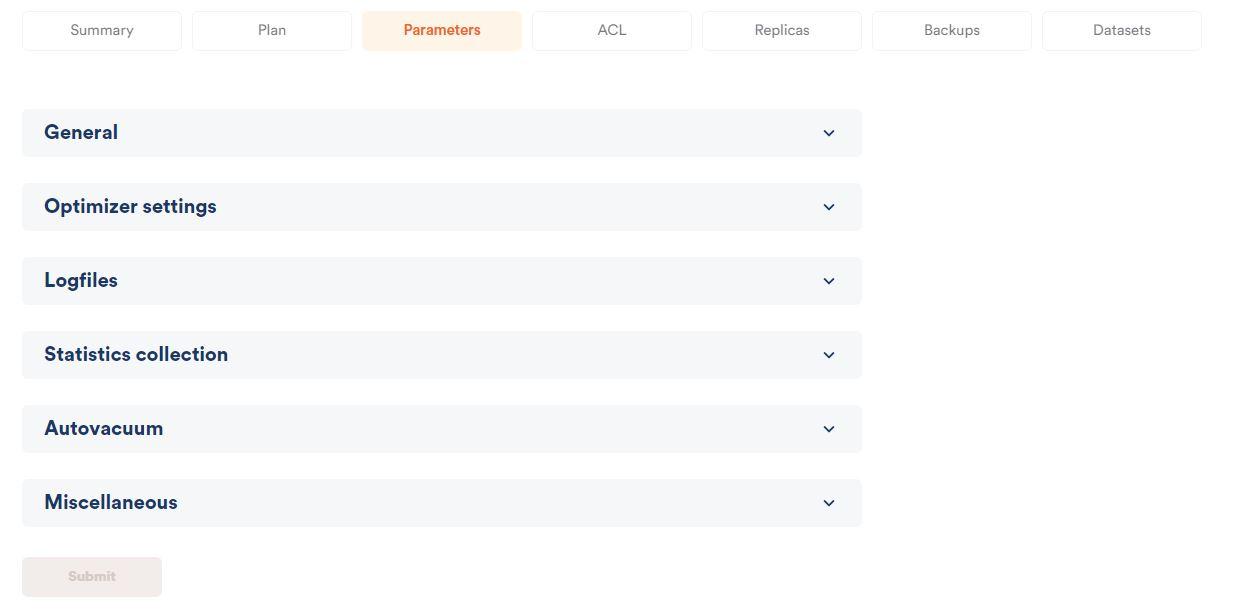 parameter config scalefield