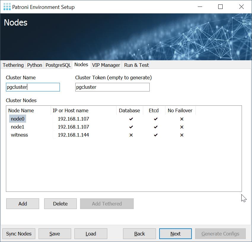 Patroni Environment Setup: Nodes