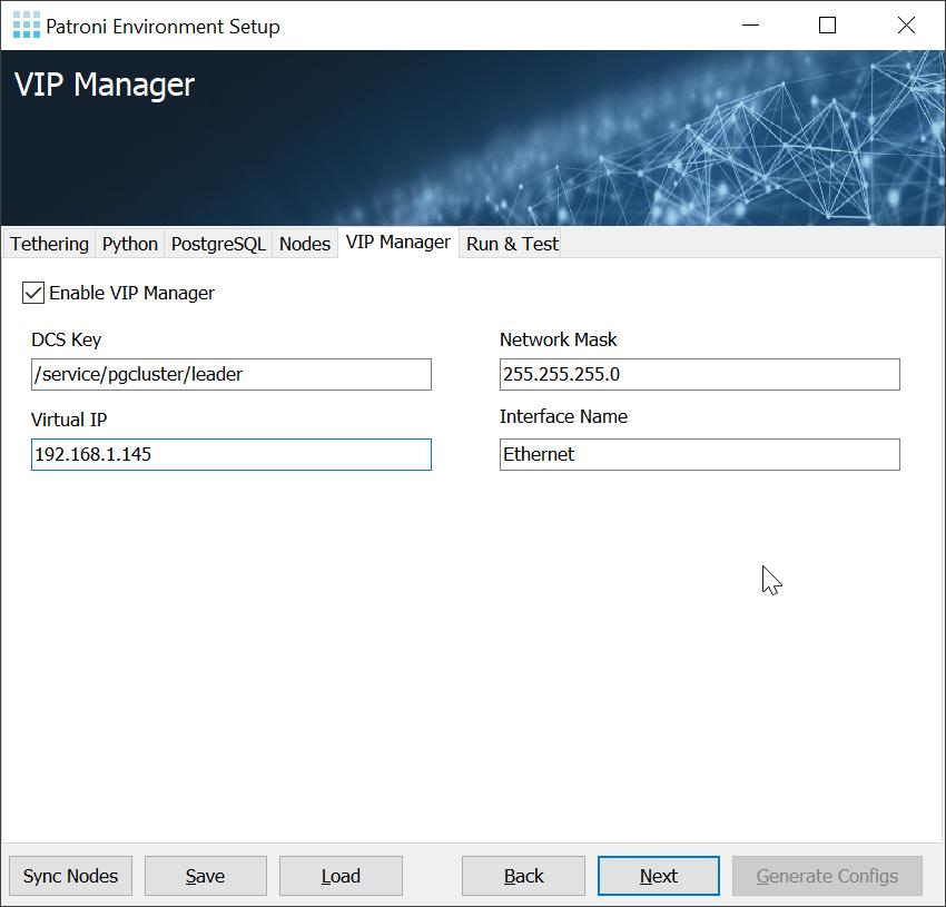 Patroni Environment Setup - High Availability for Windows: vipmanager