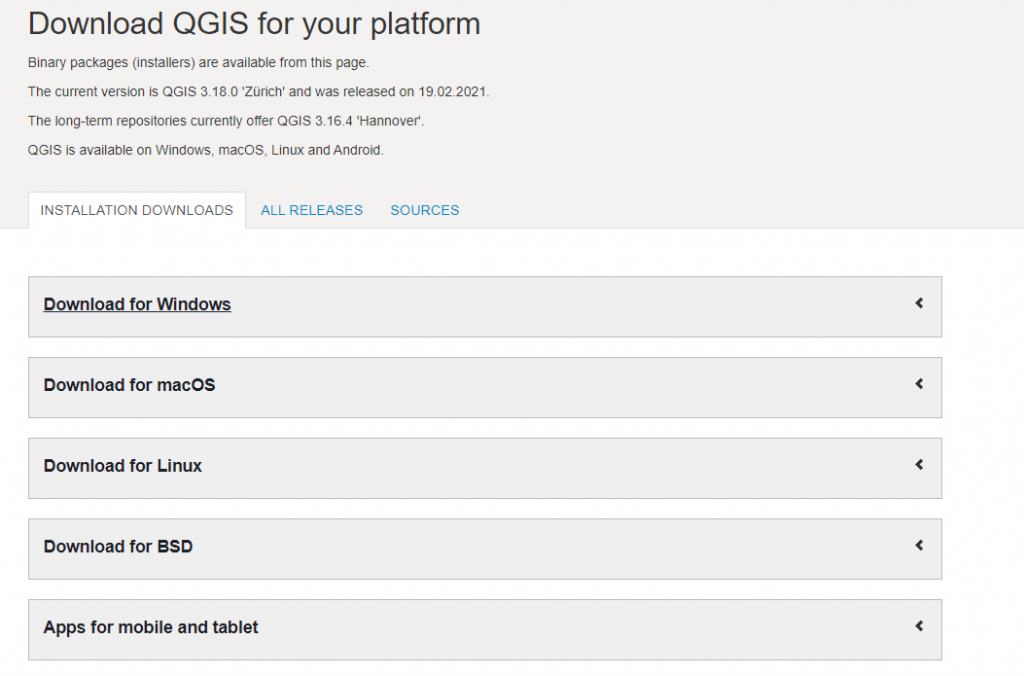 getting started with qgis: Download