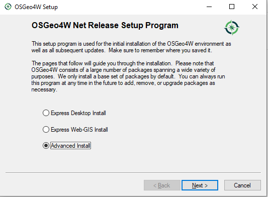getting started with qgis: Installation