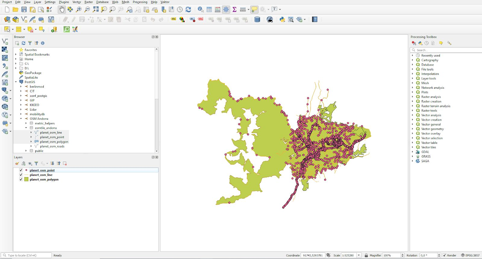 Visualizing data with QGIS