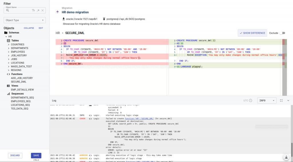 Code editor - Managing Procedures